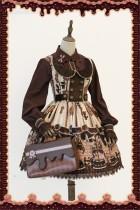 Chocolate Trojan*** Vintage Lolita Normal Waist JSK Dress -Special Price
