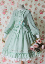 Sakura In Spring~ Lolita Embroidery OP Dress