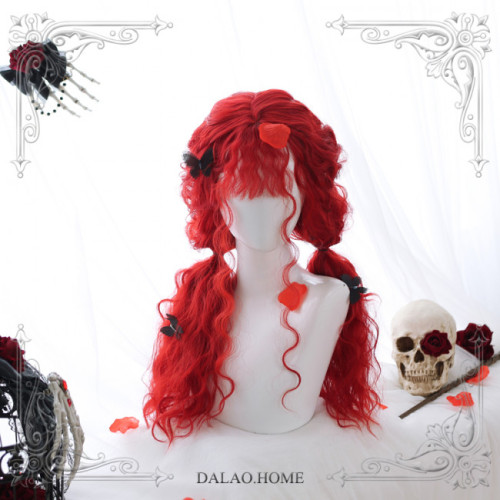 The Scarlet Witch ~65cm Long Curls Lolita Wig~