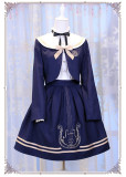 Magic Music School~ College Style Bass Embroidery Lolita Coat + Skirt Set