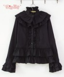 Cotton Rococo Vintage Style Ruffles Lolita Blouse -out