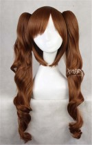 Golden Brown Detachable Wavy Ponytails Cosplay Wig