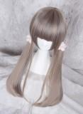 70cm Light Grey Face Framing Sweet Lolita Straight Wig