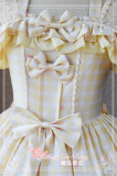 Ode to Flower&Bird~ Sweet Lolita Printed JSK Dress Dairywear Version Light Yellow  Version I Size M - In Stock