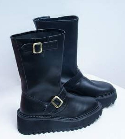 Black Leather PUNK Shoes/Boots