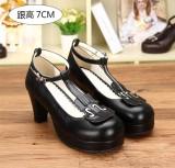 Angelic Imprint- Elegant Violin-shaped Straps Lolita Heels Shoes