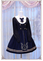 Magic Music School~ College Style Bass Embroidery Lolita OP Dress