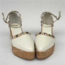 Elegant Glossy White Lolita Shoes