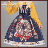 Dear Celine ~Little Red Riding Hood and Mr. Wolf Lolita Salopette -Ready Made