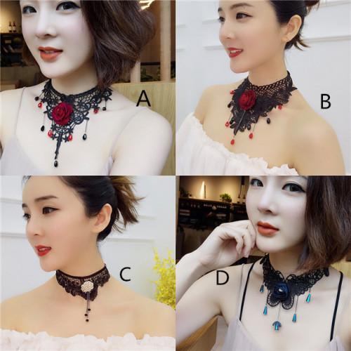 Aimimi~ Vintage Gothic lace Lolita Necklace