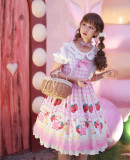 Strawberry Bee Bear Sweet Lolita OP - In Stock