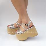 Beautiful Pinkycolor Glossy  Lolita Sandals