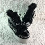 Glossy Black Lolita High Platform with Conny Hair