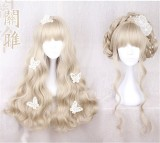 72cm Light Khaki Sweet Lolita Long Curly Wig