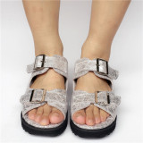 Glitter Silver Lolita Lovers Sandals
