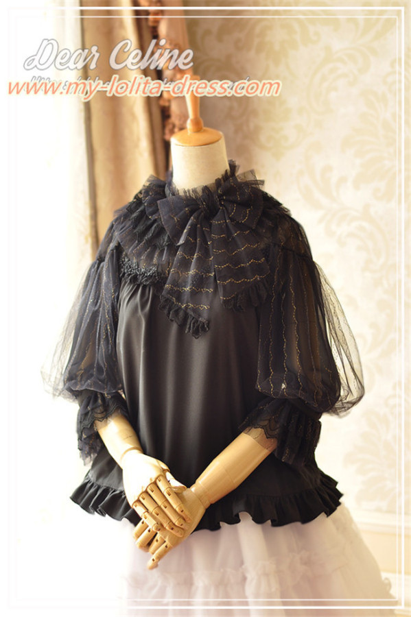 Dear Celine ~The Sound of Music~ Sweet Lantern  Sleeves Lolita Blouse -Ready Made