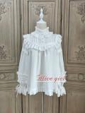 Alice Girl ~Gingham Teddy Vintage Velvet Lolita Blouse -Pre-order