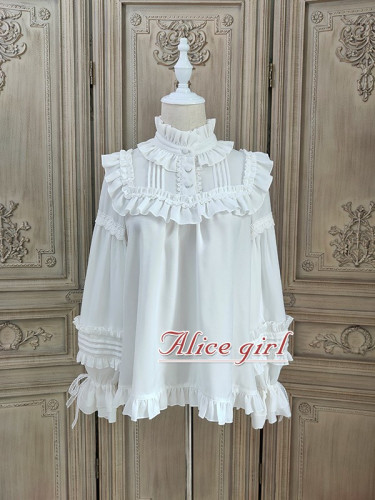 Alice Girl ~Gingham Teddy Vintage Velvet Lolita Blouse - In Stock