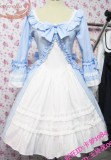Sweet Skyblue White Lolita OP Dress