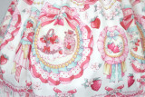 Strawberry Bunny~ Lolita Printed Short Sleeves OP Dress