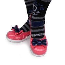 Watermelon Red Navy Blue Sandals