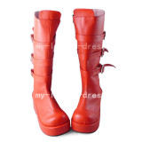Beautiful Sweet Red One Piece Boots