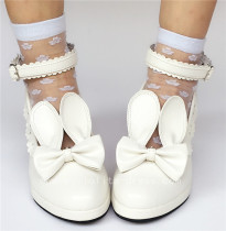 Sweet Matte White Lolita Heels Shoes