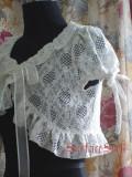 White Strawberry Lace Lolita Bolero
