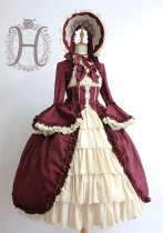 Victoria Doll~ Vintage Lolita OP Dress- Ready Made
