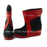 Red Black Middle Boots
