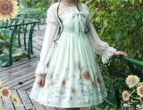 Sunflower Slight High Waist Lolita Jumper