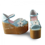 Sweet Light Blue High Platform Lolita Sandals