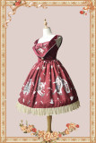 Infanta Broken Doll Fake Two Pieces Lolita JSK -Ready Made