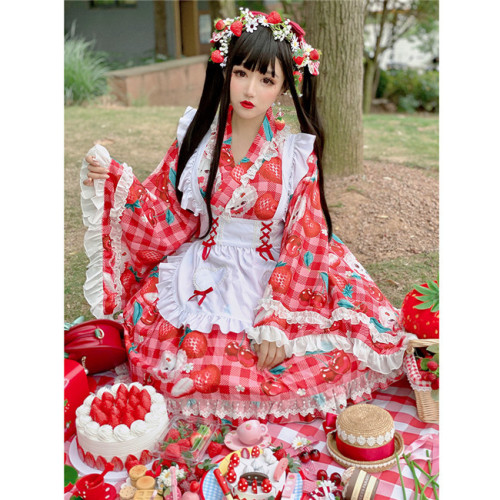 Diamond Honey ~Cherries Strawberry Lolita Set