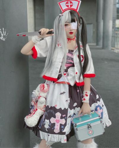 Diamond Honey ~Sweet and Cool Maiden Punk Lolita JSK -Pre-order