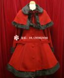 Merry Christmas~Winter Thick Lolita Long Coat&Cape