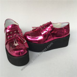 Beautiful Rose Red Round toe Lolita Shoes