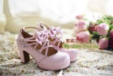 Replica Sweet Ribbons Lolita Heels Shoes with Removable Bows