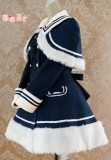 Lolita Navy Blue Sailor Style A-line Winter Coat