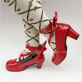 Red Bow Lolita Shoes for Girls