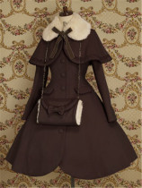 Lolita Princess Winter Slim Long Coat&Cape