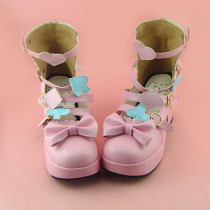 Pink Bow Lolita Girls Sandals