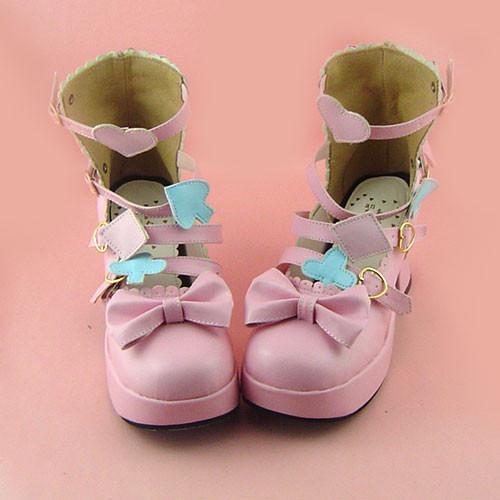 Pink Bow Lolita Girls Sandals