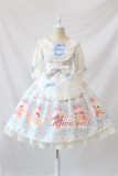 Dessert Chef~ Sweet Lolita JSK With Detachable Apron -Ready Made Light Blue Size S - In Stock
