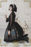 CEL Lolita ~The Holy Cross Gothic Lolita JSK with Front Open Design + Fake Collar -Ready Made