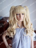 Cream Blonde Removable Ponytails Girls Wig - In Stock