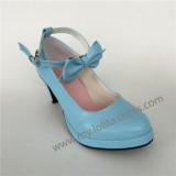 Matte Blue High Platform Lolita Heels Shoes