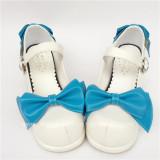 White Bow Platform Lolita Shoes