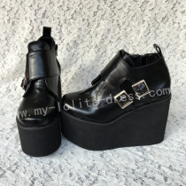 Sweet Gothic Matte Black Lolita High Platform
