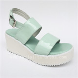 Sweet White Matte Lolita High Platform Sandals